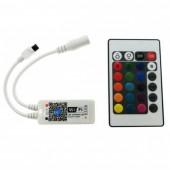Mini Wifi LED RGB / RGBW Controller DC9-12V With 24 Key IR Remote Controler For 5050 RGB / RGBW LED Strip Light