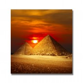 Egyptian Pyramids Print Modern Art Paintings Collections Poster Print Decorative Giclee Print on Canvas Ready to Hang 24 x 24 Inch