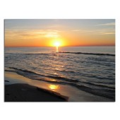 Landscape Sunset Modern Canvas Print Giclee Print on Canvas for Room Decoration Framed Ready to Hang 24 x 36 Inch