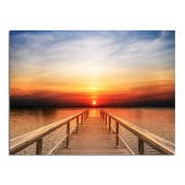 Landscape Sunset II Modern Canvas Print Giclee Print on Canvas for Room Decoration Framed Ready to Hang 24 x 36 Inch