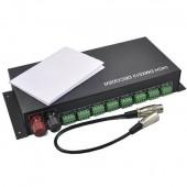 3CH *8 Way 24 Channel 12-24V LED RGB DMX512 Decoder Controller