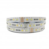 New 5M 5050+2835 RGB CCT led Strip Light RGB Color Temperature adjustable string RGB+CCT 12V/led tape 12MM PCB