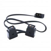 New D-Tap Male to 2 Female Extension Cable for BMPCC Anton V Mount Battery Camera Cable