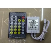 White CT Color Temperature Controller With 24 Key IR Remote Dimmer DC12-24V FOR CCT LED Strip Light