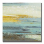 Ocean Hand Painted Oil Painting With Stretched Frame Wall Art 24 x 24 Inch