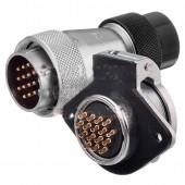 Original WEIPU Connector WS28 2 3 4 7 10 12 16 17 20 24 26 Pin Connector TD Female Plug ZG 2-hole Flange Socket Connector
