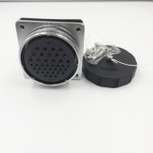 Original Weipu Connector WS55 Z Socket 4 7 40 53 61 Pin WS55 Female Square Flange Socket Power Connector