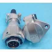 Original Weipu Connector WY16 TI + ZG 2 3 4 5 7 9 10 Pin TI Male Sleeve Cable Plug ZG Female 2 hold Flange Panel Mount Socket