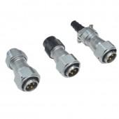 Original Weipu Connector WY20 IP67 TE TB TI 2 3 4 5 7 9 10 Pin Male Plug TE Clamping Cable Plug TI Sleeve TB Plastic Cable Plug