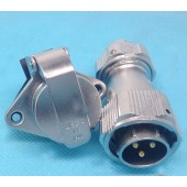 Original Weipu Connector WY20 TE + ZG 2 3 4 5 7 9 12 Pin TE Male Clamping Cable Plug ZG Female 2-hole Flange Panel Mount Socket