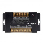 5-24V 8A*4CH RGBW High Speed Amplifiers PWM Dimming Signal Power Repeater