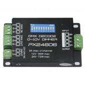 PX24606 36-72W 3A*1ch CV DMX Decoder Constant Voltage Decoders