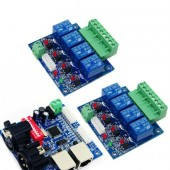 4CH Dmx 512 LED Controller DMX512 RELAY OUTPUT WS-DMX-RELAY-4CH