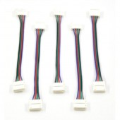 5Pcs 4Pin 12mm Double Colorful LED PCB led Connector Adapter