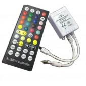DC 5V 12V 24V RGBWW LED Controller Dimmer 5 CH 40Key 6Pins IR Remote Control For SMD 5050 3528 RGBWW LED Strip Light