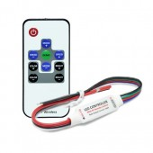R108-F DC5-24V 144-288W 3Channels*4A Mini Wireless RGB LED Controller+RF Remote with Black and Red line for LED RGB Strip lights