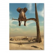 Canvas Wall Art Animal Resting Elephant Wall Pictures Giclee Print on Canvas Stretched 24 x 32 Inch