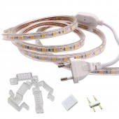 AC220V SMD5050 Single Color Set LED Strip Light Flexible Waterproof 60LEDs/m for Garden