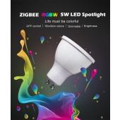 RGB Warm White Spot Light RGB GU10 Spotlight Zigbee Zll 5W AC100-240V Led APP Smart Phone APP Work With Amazon Echo Plus Led