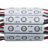 Super Bright WS2811 7515 DC12V 3-LED 5050 Roound Lens Injection RGB SMD Pixels LED Module Light Front Window Sign WS2811 10PCS