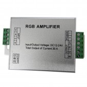 RGBW/RGB LED Amplifier DC12V-24V 12A 24A 30A 3CH 4CH Output LED Strip Light Power Repeater Led Lamp Tape Console Controller