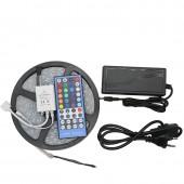 5M RGBW RGBWW Light 5050 12V Led Strip + Controller + Power Adapter