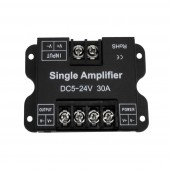 Single Color LED Amplifier Data Signal Repeater DC12-24V 30A 1CH 1 Channel Dimmer Power Amplifier for LED Strip Lights