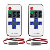 RF Remote Controller DC 12V Mini Dimmer Switch 2pcs