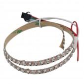 SK6805(Similar To SK6812) SMD2427 RGB 144LEDS/M DC5V Ultra Slim 5MM Wide Digital Intelligent Addressable LED Strip Lights 1m/3.28ft Per Roll