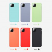 Slim Liquid Silicone Phone Case For iPhone 11 Pro XS Max X XR Candy Color Soft Cover For iPhone 11 7 8 6 6s Plus Cover Case
