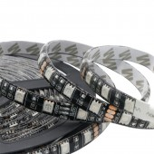 5M LED Strip 5050 Black PCB DC 12V Flexible LED Light 60 LED/m RGB 5050 White And Warm White IP20 IP65 Waterproof 2Pcs