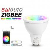 LED Spotlight GU10 RGB CCT 5W ZGBEE ZLL Amazon Echo Plus Control Lamp