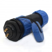 SP2110/S,Female Plug, Male Socket,Inversion Waterproof Connector 2 Pin Plug Socket,Rated Current 30A, Rated Voltage500V,IP68