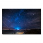 Modern Canvas Inkjet Print Art Landscape Starry Sky Wall Pictures Giclee Print on Canvas Stretched 24 x 32 Inch