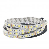 16.5ft 5M 12V Double Color 5050 SMD LED Strip 12V Flexible CW/WW Dual White In 1 Chip Color Temperature Adjustable CCT 2Pcs