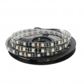 5M 300Leds RGB 5050 SMD Flexible LED Strip Light 60 LEDs/M Waterproof IP65 Led Lamp 5050 Black PCB DC 12V 100M DHL Free