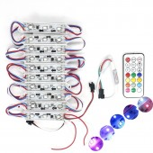 Ws2811 Dmx 3led DC 12V Led Garden Light Smd5050 RGB Waterproof Digital Module String Light+Remote