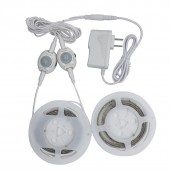 PIR Motion Activated LED Bed Light Automatic On Off Sensor Night Light Lamp Waterproof WW 3528 LED Strip Timmer