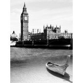 Black and White Architectures Photos UK London Big Ben Landmark Painting 24 x 32 Inch