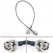 Ultra-soft SDI video signal cable, camera monitor SDI line, BNC plug to BNC plugs elbow, SDI pigtail. Camera RF coaxial cable