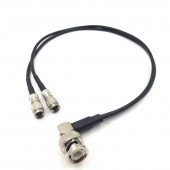 UltraSync ONE to BNC timecode / genlock cable 2 DIN 1.0/2.3 To Right Angel BNC Timecode input or output Cable