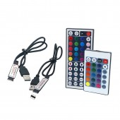 5Sets USB RGB LED Controller DC 5V 24 44 Keys RF Wireless Mini Remote Controller For 5050 3528 RGB LED Strip Lights Tape Home