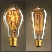 Vintage Antique Retro 40W 220V 240V Edison Light Bulb B22 Incandescent Light Bulbs/Filament Edison Lamp,ST64,A19 New Style DIY