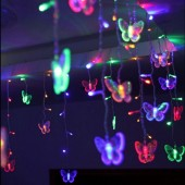 Waterproof Multicolor Butterfly 3.5m 4.5m 5m/LED STRING Strip Festival Holiday Curtain LIGHTS CHRISTMAS WEDDING Lamps 110V/220V