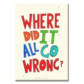 Where Did it All Go Wrong Modern Canvas Print Motivational Words 16 x 24 Inch
