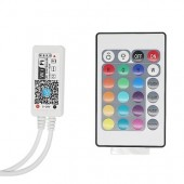 RGB RGBW Wifi LED Remote Controller Android /IOS Mini 24Key IR Remote Control For SMD 5050 3528 LED Strip Light