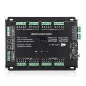 Super Multi-Channel 32CH DMX512 Power Decoder for Lighting Show 4 Way DC5-24V Constant Voltage Input Total 94A Output