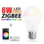ZIGBEE Smart Home 6W Bulb RGB+CCT Led light Compatible With Amazon Alexa